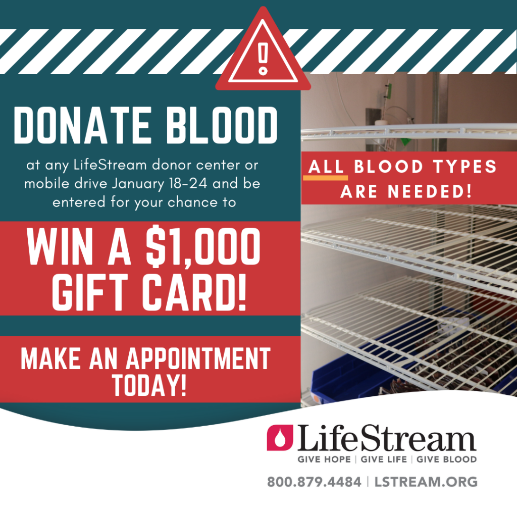 Community Blood Supplies Are Critically Low Shelves That Should Have At The Ready Empty Shortage Is Nationwide But You Can Help