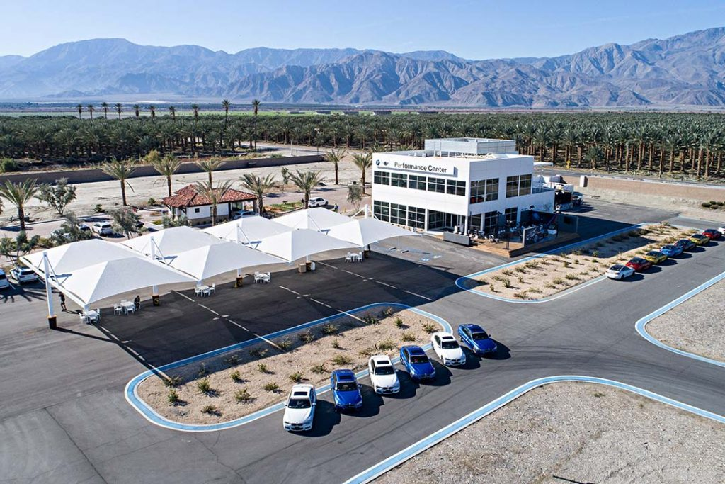 The BMW Performance Center West located in Thermal, Ca.